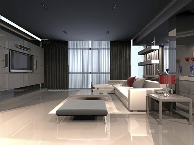 Y ksek tavanl evler i in dekorasyon nerileri evhayat for Minimalist house 3d max
